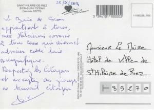 carte postale Maire 25072014 verso