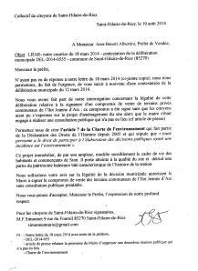 lettre 2 au préfet